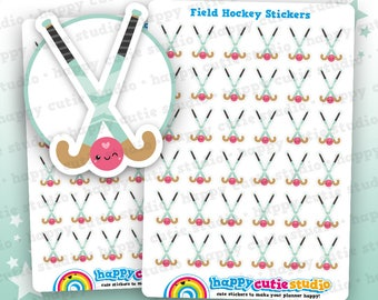 36 Cute Hockey/Field Hockey/Sport Planner Stickers, Filofax, Erin Condren, Happy Planner,  Kawaii, Cute Sticker, UK