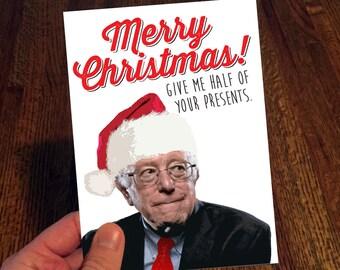 Bernie Sanders Christmas Card - Bernie Funny Christmas Card