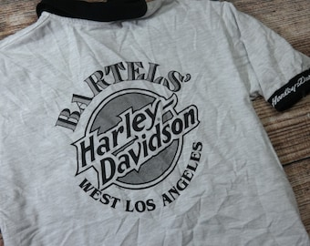 Vintage Harley Davidson Polo Shirt Size L Large Motorcycles Bartel's Made in USA
