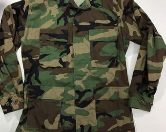 Vintage Military Camoflauge Jacket Camo jacket BDU Fatigue