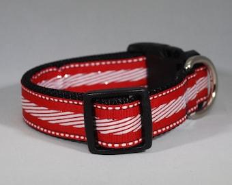 """Buckle """"Candy Cane"""" Dog Collar"""