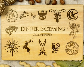 Game of Thrones gift, Heraldry Emblem, Westeros Houses, House sign, kings landing, Iron throne, Stark, Baratheon Targaryen, Lannister