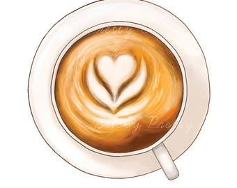 DIGITAL Art | Foam Heart Latte