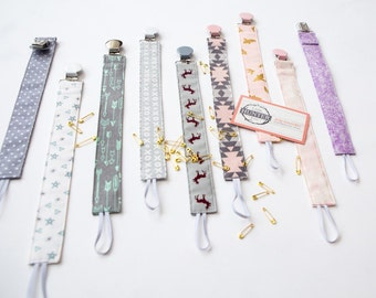 Pacifier clips - multi color