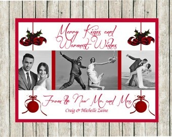 1st Year Married Christmas Cards, Photo Christmas Cards, Newlywed Christmas Cards, Newly Married Holiday Cards