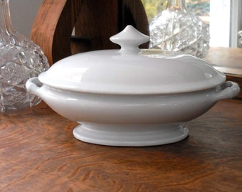 White Ironstone Tureen