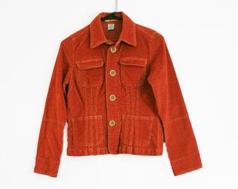 Vintage Burnt Orange Corduroy Jacket