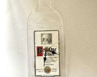 Ketel One vodka bottle clock