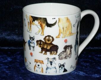 Dog 1 pint bone china mug dogs CHINTZ all around mug -- personalised if required at no extra cost