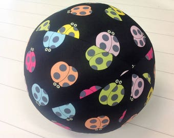 Balloon Ball Fabric,Balloon Ball Cover, Portable Ball, Travel Ball, Inflatable, Sensory, Special Needs, Bugs, Black, Kids, Dogs,Eumundi Kids