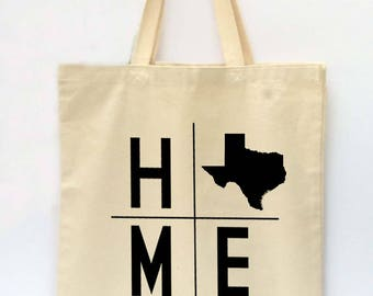 State Tote Bag, Texas Tote, Reusable Grocery Bag, Market Tote Bag, Teachers Gift, Canvas Tote Bag, Printed Tote Bag, Shopping Bag
