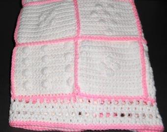 Bubbly Hearts Baby Blanket