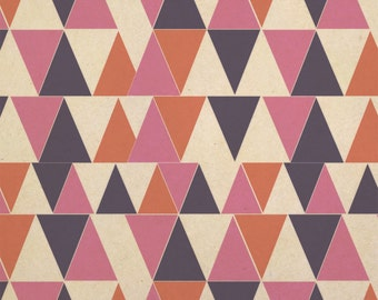 Triangle Geometric Kraft Present Gift Wrap Wrapping Paper