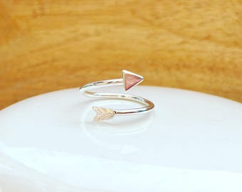 Adjustable arrow ring, Arrow wrap ring, adjustable ring, bow and arrow, arrow spiral ring