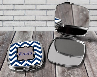 Personalised compact mirror, Custom compact mirror, Gift for her, Birthday gift,