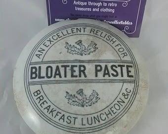 Antique pot lid. Bloater paste. Stoneware lid.