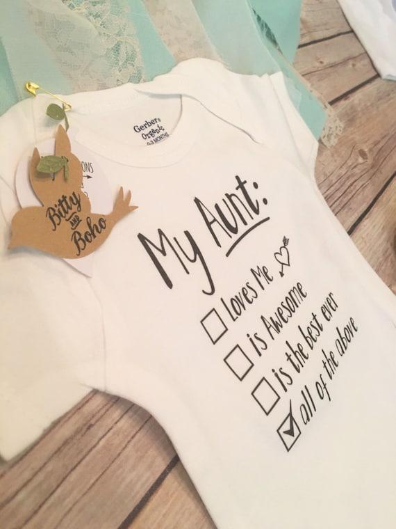 Baby Gift Aunt : Aunt onesie? unique baby gift giftaunt bodysuiti