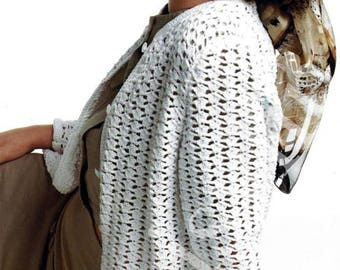 Instant PDF Download Crochet Pattern Ladies Cardigan 38 to 40 inch   (77)