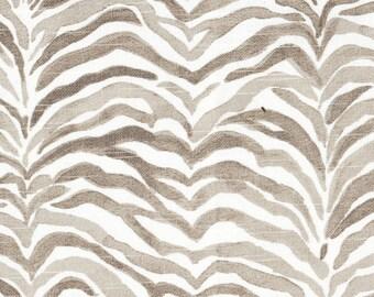 "72"" Shower Curtain, Serengeti Bisque Gray Animal Print , Lined"