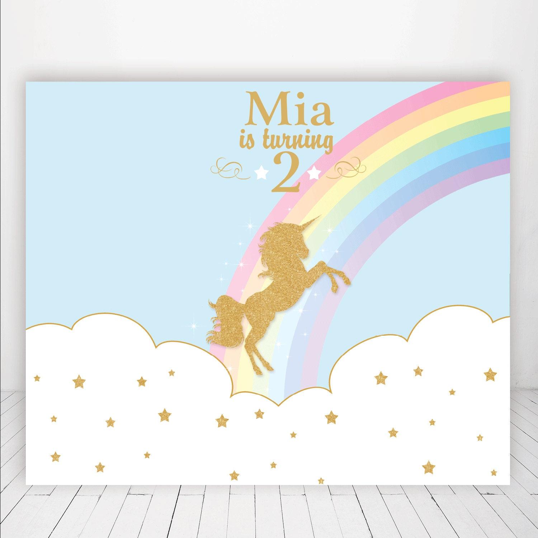 unicorn rainbow glitter rocking horse carousel baby shower
