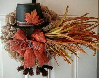 Burlap Turkey Wreath