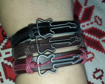 New line of Guitar Leather Bracelets