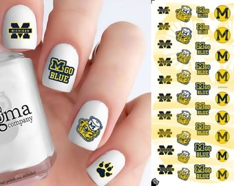Michigan Wolverines Nail Decals (Set of 54)