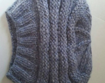 Hand knit cashmere beret from loro piana yarn