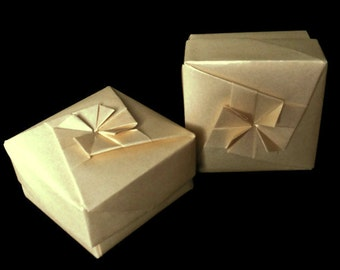 Light Gold Origami Box