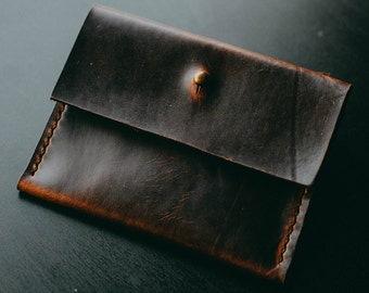 Sunday Brunch Card and Cash Holder Everyday Carry Horween Chromexcel Leather