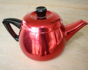 Vintage Raco Red anodised aluminum teapot