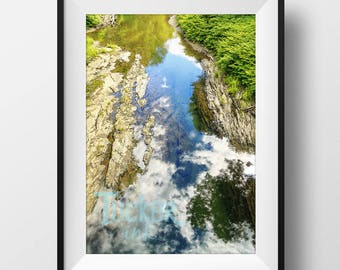 Puddle Reflection - Vermont {abstract conceptual nature river stream travel photography print photo art}