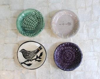 Small ring dish | Handbuilt stoneware trinket dish