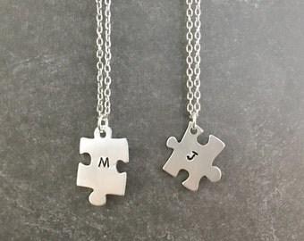 Puzzle Piece Necklace - Best Friend Necklace - Custom Best Friend Necklaces - Friendship Necklace - Autism Awareness - Puzzle Piece Jewelry