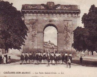 Early 1900s Post Card Arc De Triumph, Paris, France. Unused
