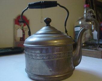 Vintage Silver Teapot w/black handle