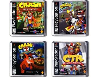 Crash Bandicoot Fridge Magnets -  Set of 4