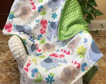 Patchwork Minky Blanket Boy Minky Blanket Soft Baby