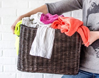 Storage basket, Wicker Laundry basket, Toy storage, Wicker Humper, Deep storage bin, Closet storage, Large storage bins, Storage drawers