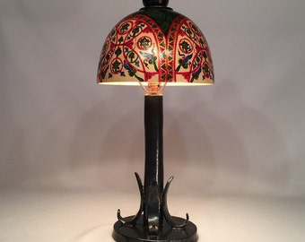 table desk lamp russian painting wood table lamp ceramics table lamp rustic - Rustic Table Lamps