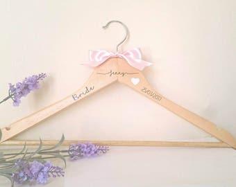 Handmade Wooden Wedding Day Hanger, Wedding Day Prop, Wedding Dress