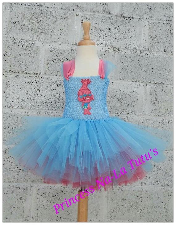 Blue and Pink Poppy Tutu Costume