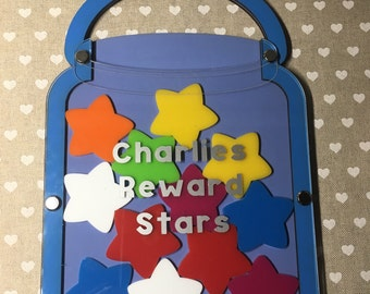Reward chart, reward jar, childrens reward chart, childrens reward stars, behaviour chart, potty training chart
