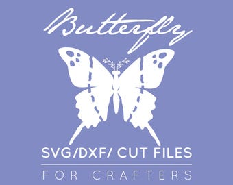 Butterfly SVG, Butterfly DXF, Butterfly Cut Files , Butterfly Clipart, Butterflies, Cricut Explore, Cut Files, Paper Craft, Instant Download