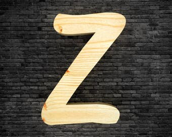 Wood - Z letters