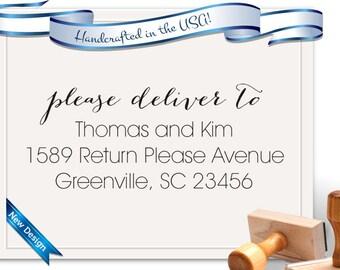 RSVP Envelope Stamp, Self Addressed Envelope Stamp, Wedding Stamp - Please Deliver To - SKU 1657