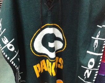Packers handmade poncho
