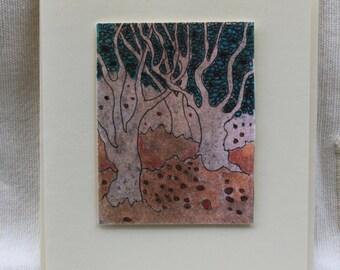 Fallen Leaves, Handcrafted Greetings Card