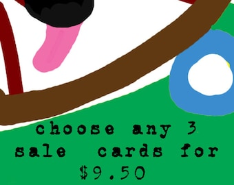 Dachshund Cards SALE Choose any 3  Sale Cards