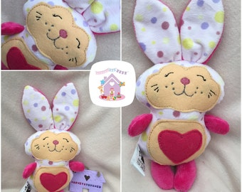 Happy Bunny Made To Order Soft Toy Rabbit Personalised Childrens Rabbit Toy